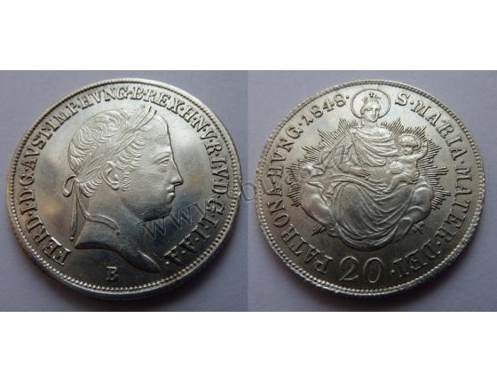 Ferdinand V. - 20 krejcarů 1848 B