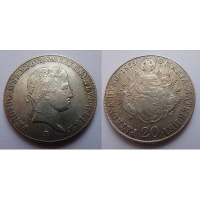 Ferdinand V. - 20 krejcarů 1839 B