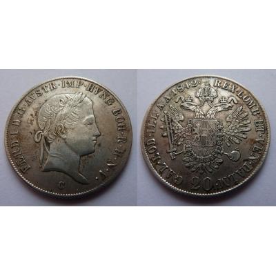 20 krejcarů 1842 C
