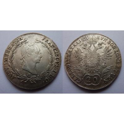 František I. - 20 krejcarů 1830 C