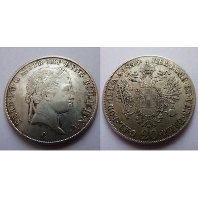 Ferdinand V. - 20 krejcarů 1845 C