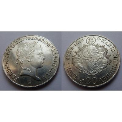 20 krejcarů 1846 B