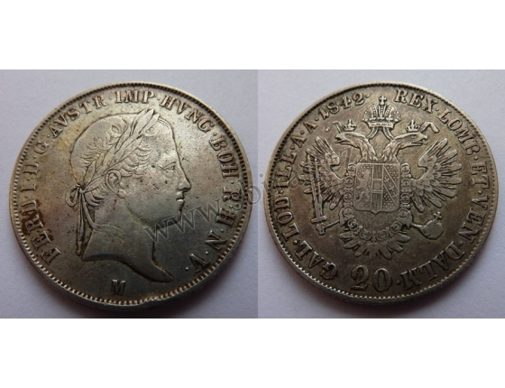 Ferdinand V. - 20 krejcarů 1847 B