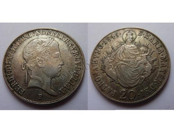 Ferdinand V. - 20 krejcarů 1845 B