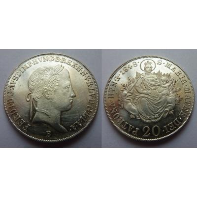 20 krejcarů 1848 B