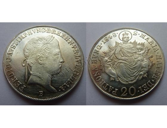 20 krejcarù 1848 B