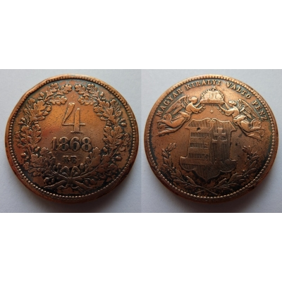4 krejcary 1868