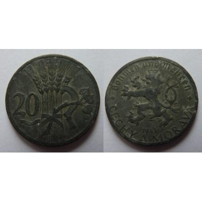 Protektorát Čechy a Morava - 20 haléřů 1941