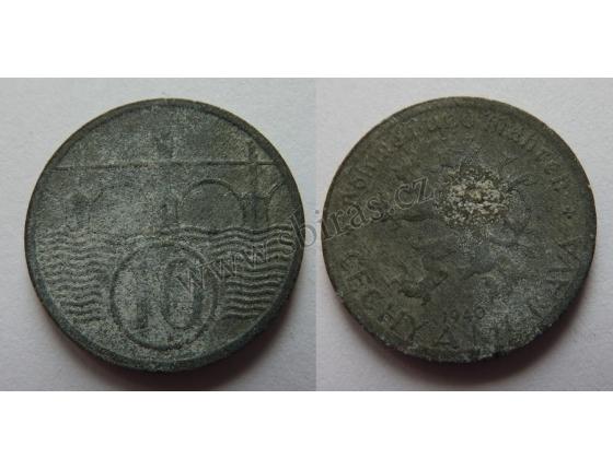 Protektorát Čechy a Morava - 10 haléřů 1940