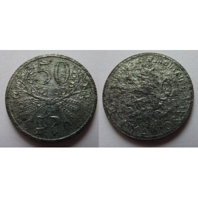 Protektorát Čechy a Morava - 50 haléřů 1940