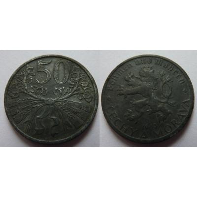 Protektorát Čechy a Morava - 50 haléřů 1941