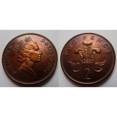 Velká Británie - 2 pence 1990
