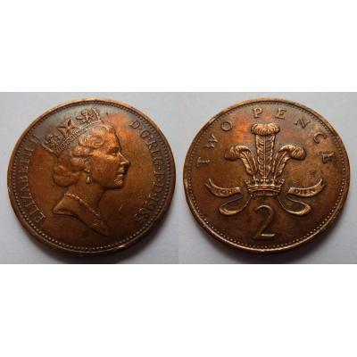Velká Británie - 2 pence 1985