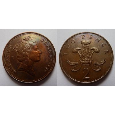 Velká Británie - 2 pence 1989