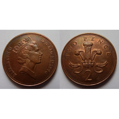 Velká Británie - 2 pence 1996