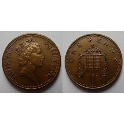 Velká Británie - 1 Penny 1986
