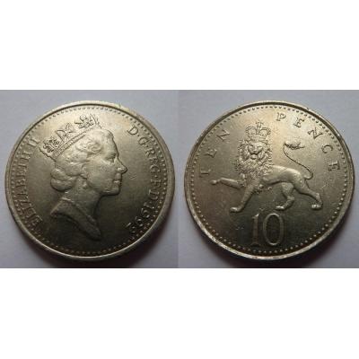 Velká Británie - 10 pencí 1992