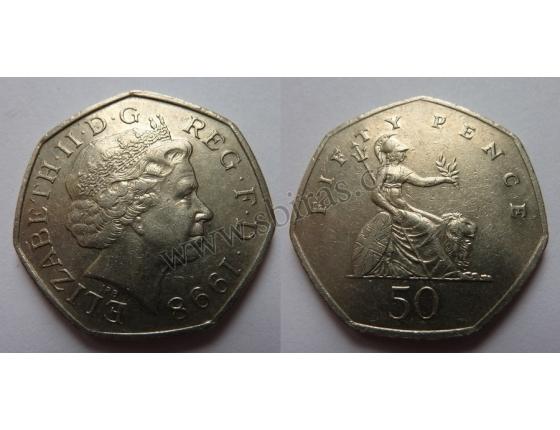 Velká Británie - 50 pencí 1998