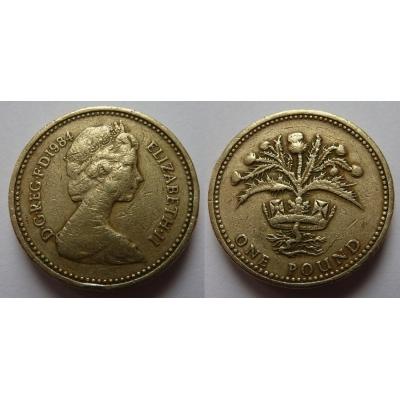 Velká Británie - 1 libra 1984