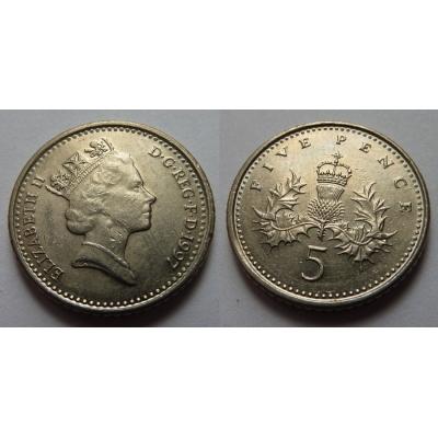 Velká Británie - 5 pencí 1997