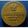 2 krejcary 1851