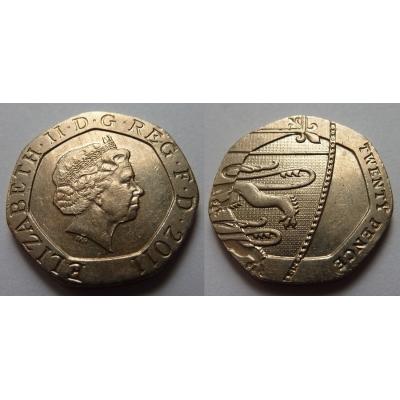 Velká Británie - 20 pence 2011