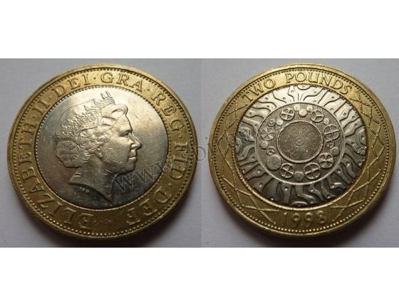 Velká Británie - 2 libry 1998