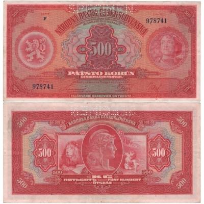 500 korun 1929, série F