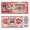 Jugoslávie - bankovka 100 dinara 1986 aUNC / razítko Beograd-Ljubljana