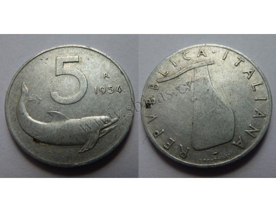 Itálie - 5 lir 1954 R