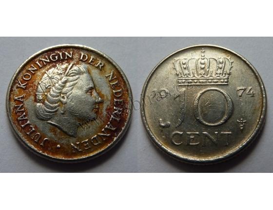 Holandsko - 10 centů 1974