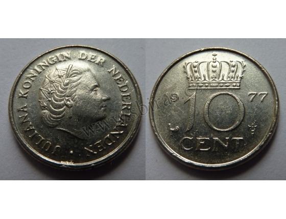 Holandsko - 10 cent 1977