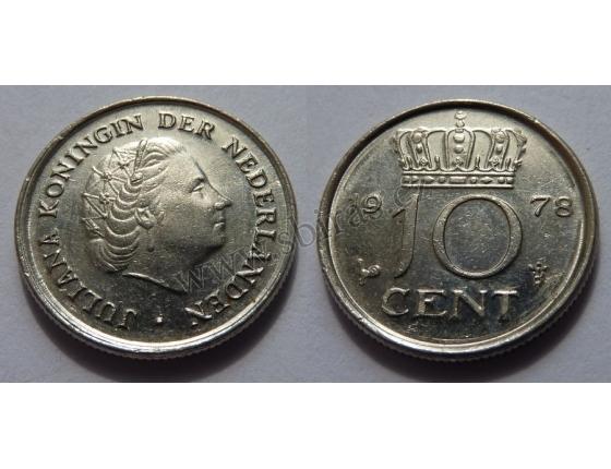 Holandsko - 10 centů 1978