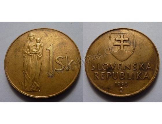 Slovensko - 1 koruna 1993
