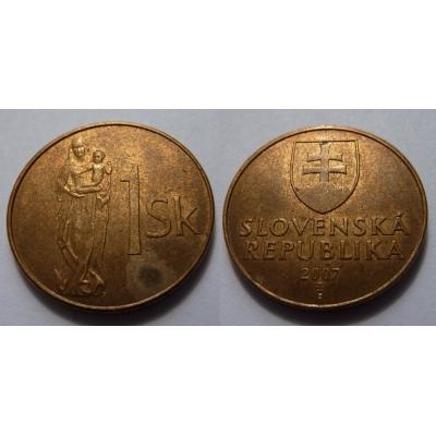 Slovensko - 1 koruna 2007