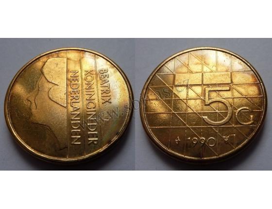Holandsko - 5 gulden 1990