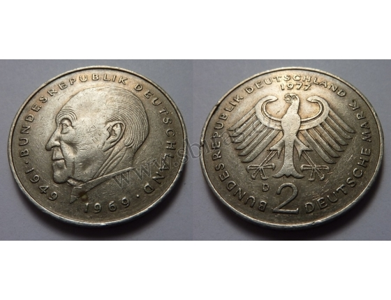 Západní Německo - 2 Mark 1977 D