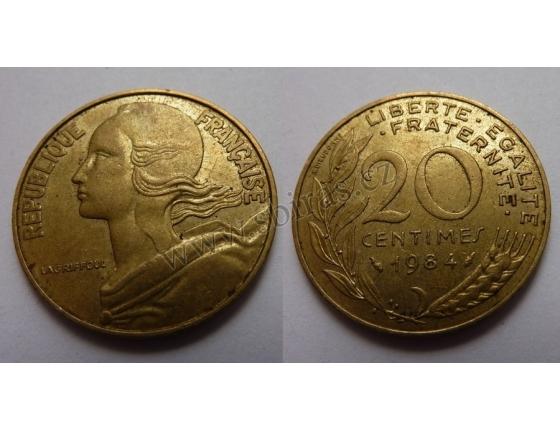 Francie - 20 centimes 1984