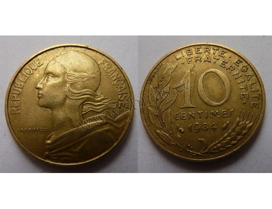 Francie - 10 centimes 1984