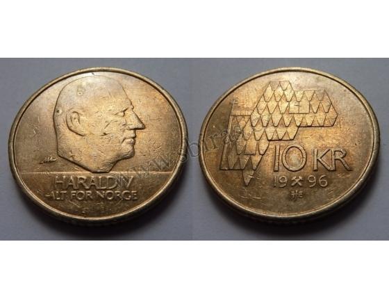 Norsko - 10 kroner 1996