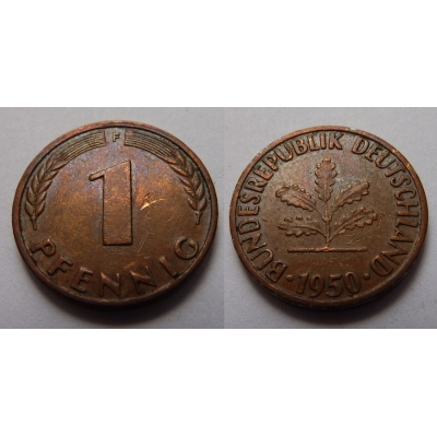 Západní Německo - 1 pfennig 1950 F