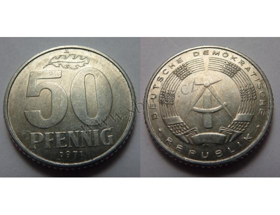 Východní Německo - 50 Pfennig 1971 A