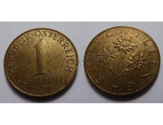 Rakousko - 1 schilling 1991
