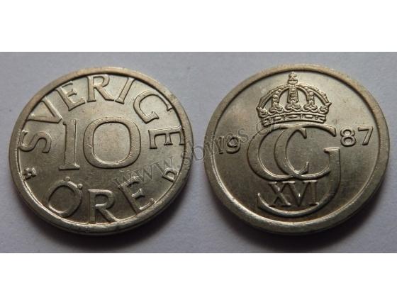 Švédsko - 10 ore 1987 D