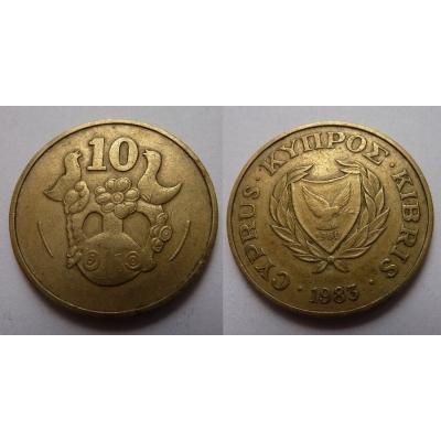 Kypr - 10 centů 1983
