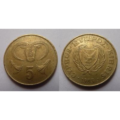 Kypr - 5 centů 1983