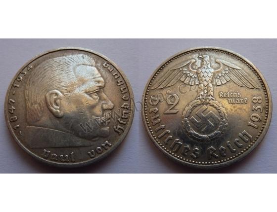 Německá říše - 2 marky 1938