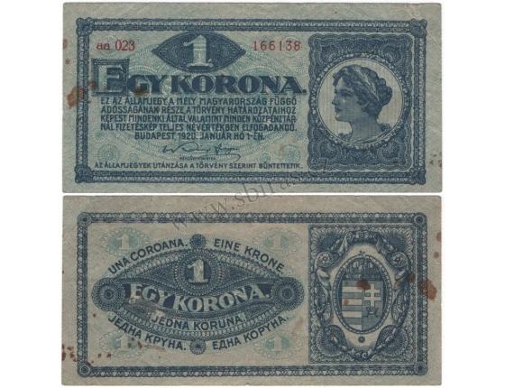 Maďarsko - 1 korona 1920