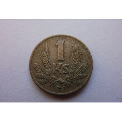 Slovenský štát- mince 1 koruna 1942
