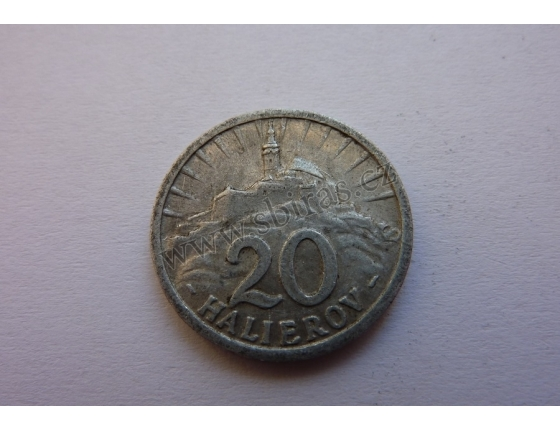 Slovenský štát - 20 halierov 1942
